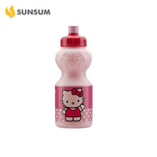 Lovely Design Plastic Sports Bottle Suitable For Cartoon Design Printing