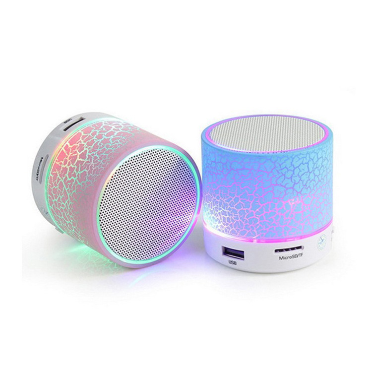 Round Wireless <strong>Mini</strong> 3W Portable Good Sound LED Light Bluetooth Speaker with USB