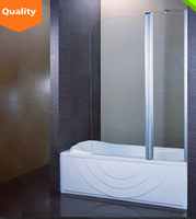 Professional frameless frame portable bathtub shower door