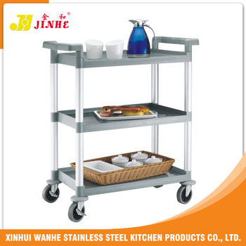 Best-Selling Wholesale Price Stainless Steel Tea / Liquor Service Trolley Cart