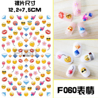 Pinpai brand cute nail art sticker various custom 3D nail stickers