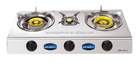 Super flame Brass 3 burner Stainless steel Gas Stove BW-3021