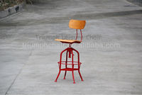 Adjustable Vintage Industrial Stool/vintage metal bar stool/Popular fixed bar stool