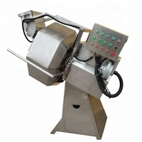 Stainless steel snacks food seasoning machine mixing various flavor/potato chips seasoning machine