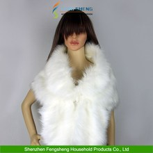 NEW High-grade Elegant Bridal Wedding Faux Fur Long Shawl White Stole Wrap Shrug Scarf