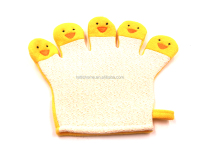 Exfoliating Bath Gloves Shower Skin Care Back Body Scrub Cleaning Massage five fingers kids bath Mitt