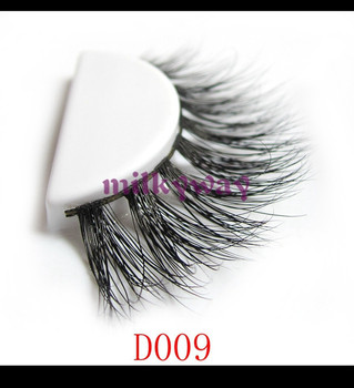Women Comfortable crossing full strip 3D hand made mink fur eyelash