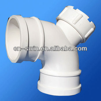 China Factory industrial PVC pipe 90 degree elbow with cleanout
