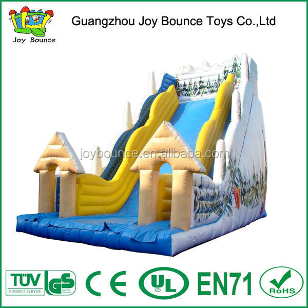 inflatable slide commercial,inflatable snow white slide,2014 hot sale inflatable christmas slide