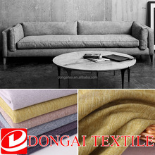 home textile, toy material 100% polyester linen fabric for sofa / sofa upholstery fabric