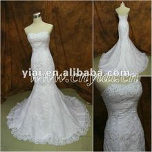 JJ2856 Beaded Mermaid lace Floor Length Wedding Dress 2012