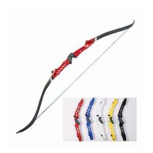 Factory price aluminum alloy handle recurve bow for wholesaler