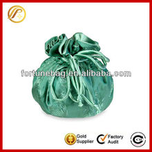Fashionable satin jewelry drawstring bags