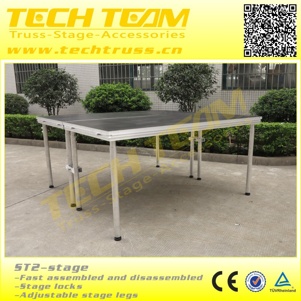 Easy install Plywood Adjustable Mobile stage platform aluminum