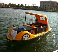 entertainment battery powered water park electric car boat fiberglass