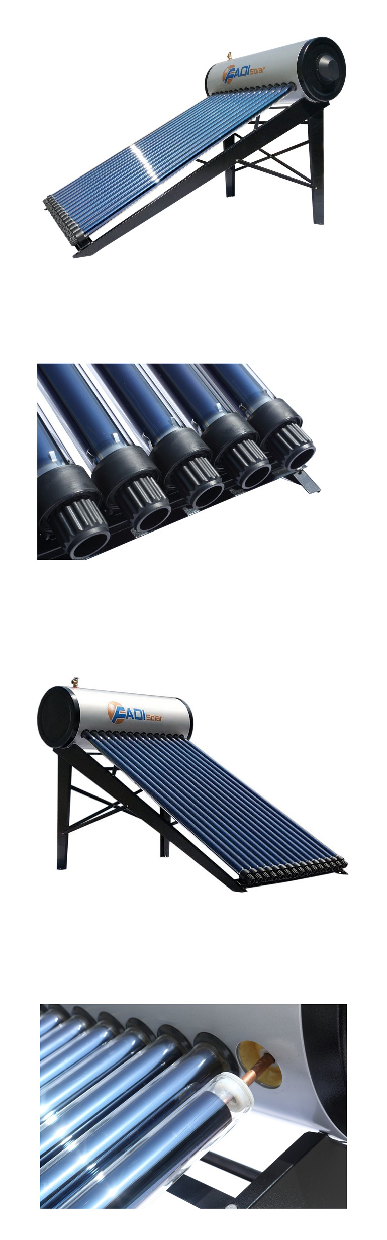 EN12976 CE Compact High Pressurized Solar Hot Water Heater (150/200/300L)