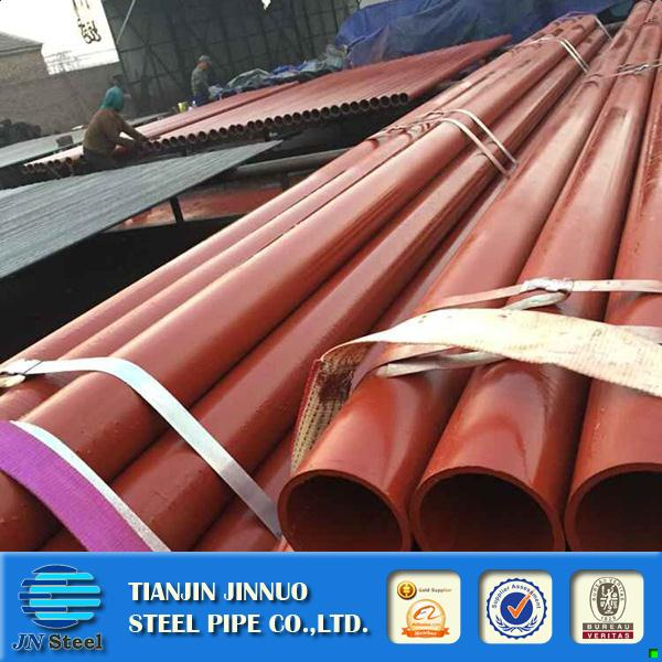 black iron welded steel pipe 40*80*1.2 welded oval steel pipe red painting construction steel pipe