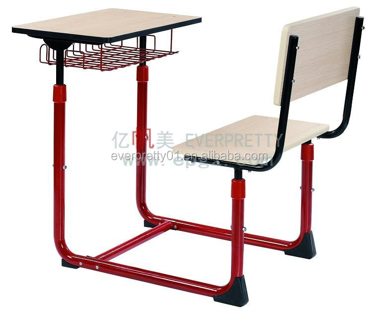Adjustable Height Combo Single Student Desk and Chair