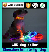 S-M-L size pet products led flash light dog/cat collar/cat collar made in China