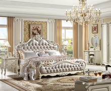 european classica style solid wood carved flower bedroom furniture sets king size bed