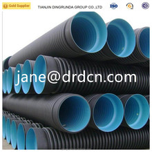 hdpe double wall corrugated pipe underground road culvert drainage water pipes
