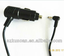 (KCC-014)cigar cable/car cigaretter lighter with fuse 250V 3A to DC plug 3.5*1.35 cable 26AWG/2C