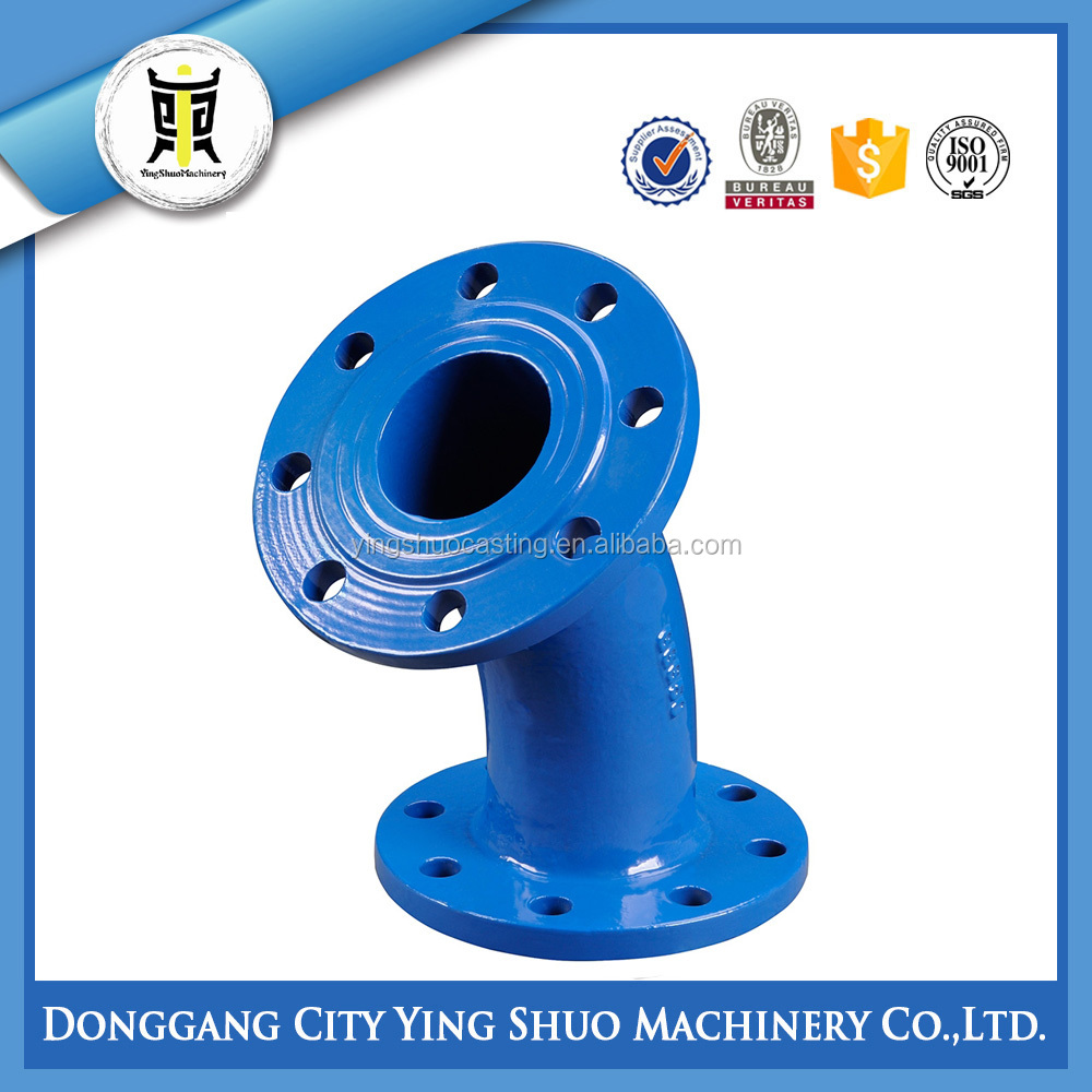 SHELL MOLD CASTING DUCTILE IRON DOUBLE FLANGED DUCKFOOT BEND