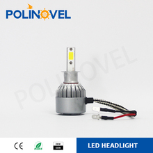 Car LED headlight h13 high power cob LED car headlight Polinovel LED H4 car LED headlight