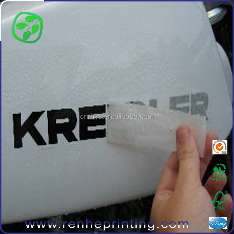 High quality cartoon rub-on scratching transfer stickers car sticker