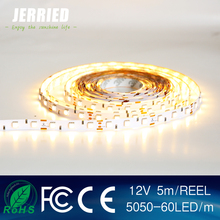 DC12v smd 5050 14.4w/m led strip light 60leds IP20 with CE ROHS