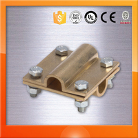Grounding System Brass Cross Wire Clamp