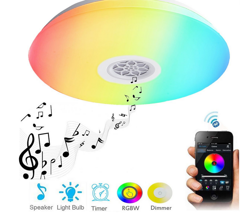 Smart Wireless Remote Led Ceiling Light 24W Ceiling Lamp Bluetooth Speaker Music Light