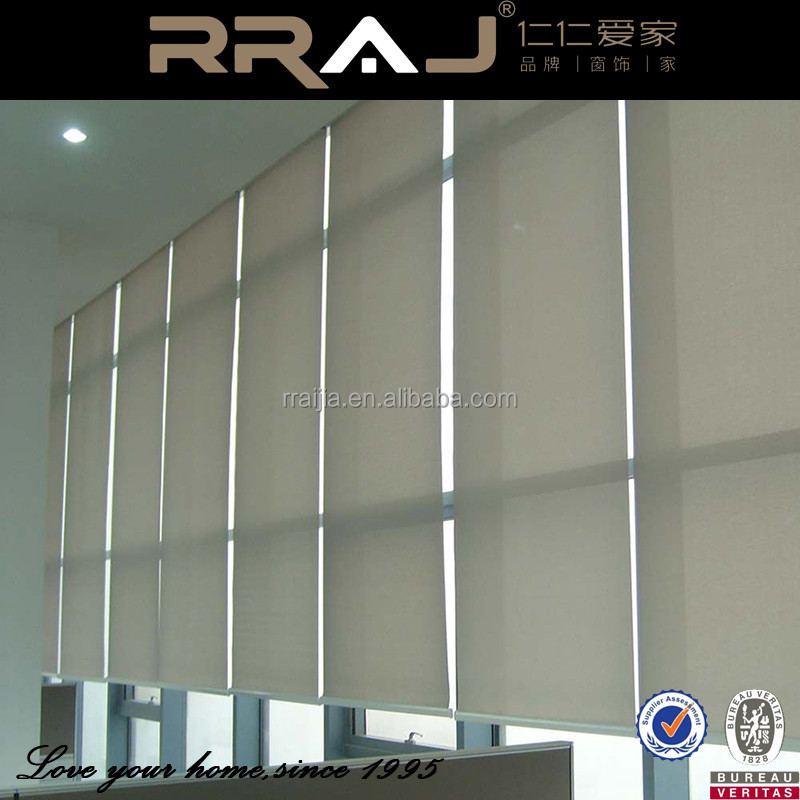 Plastic Ball Chain Motorized Roller Blinds with Side Tracks