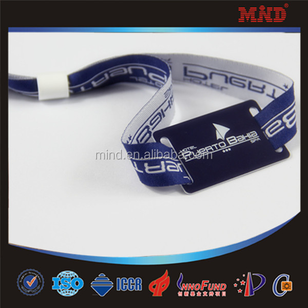 MDW80 Single Cheap Custom Festival RFID Woven Fabric Wristband for Events