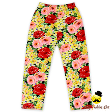 Baby girl high quality pants full flower pattern leggings kid boutique winter pants wholesale
