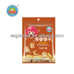 60g Chocolate Alphabet Biscuits Baby Biscuits High Calcium