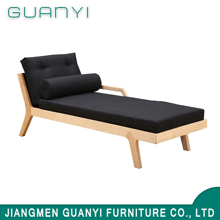 European modern style cheap hotel lobby single seat sofa bed wholesale