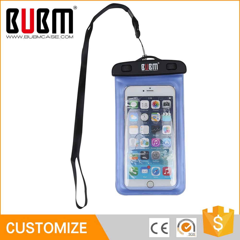2016 popular high evaluation durable waterproof phone bag pvc case for cell phone