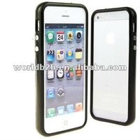 Bumper Frame TPU Soft Case Cover for New iPhone 5 with chromate keyboard design