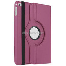 rotary lichi leather stand case for iPad mini 4