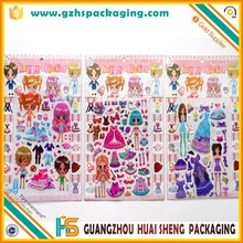popular full color printing cartoon Crystal sticker 3d Epoxy domed sticker