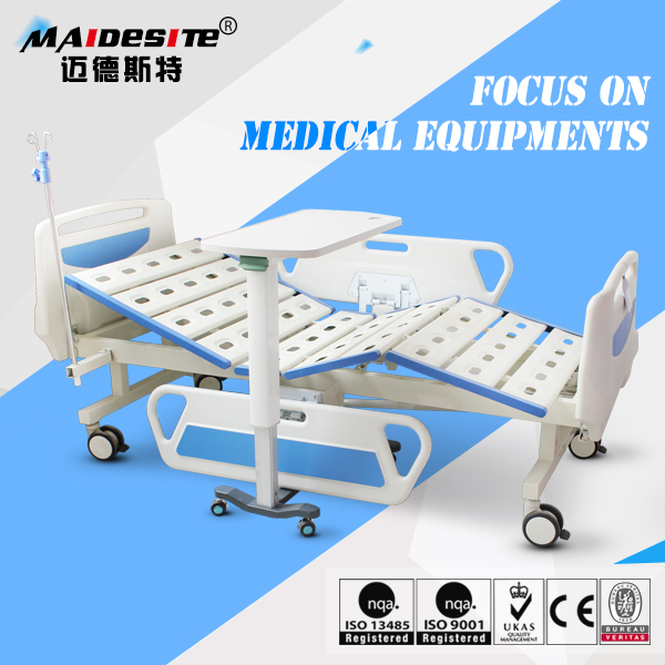 Height adjustable cheap price patient used manual hospital bed for hot sale