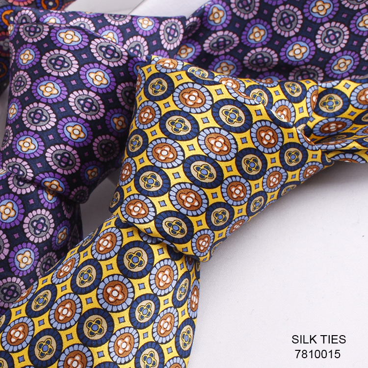 Print Silk Neck Tie Custom Made Silk Ties