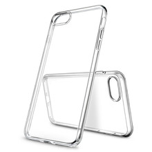 Air Sac Protected Transparent TPU Mobile Phone Cases Accessories for iphone X for iphone 7 for iPhone 8 Cell Phone Case Logo