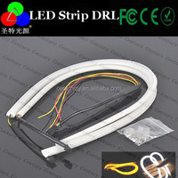 China Supply DRL Flexible LED Tube Strip Style Daytime Running Lights Tear Strip Car Headlight turn Signal light for audi