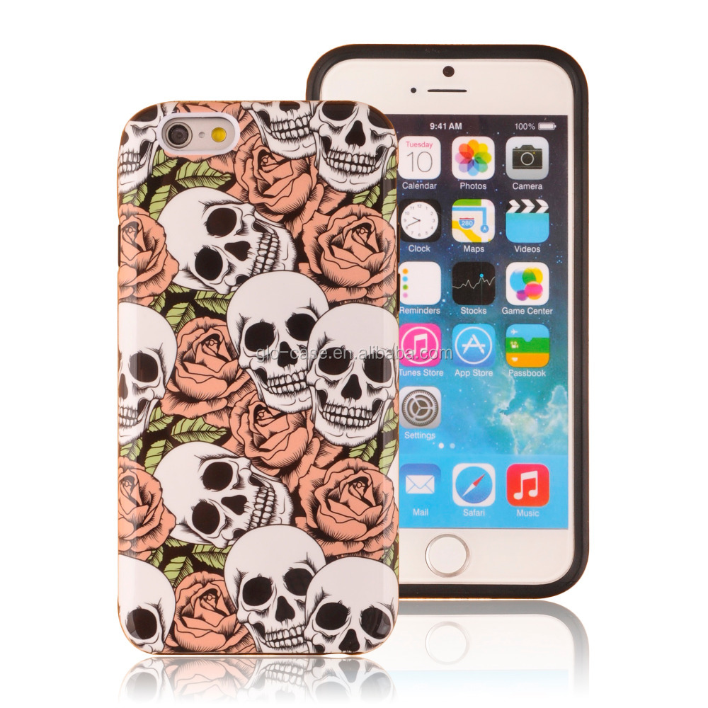Custom Design Hybrid PC and Silicone Phone Case for iPhone 6