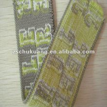 Jacquard softer elastic binding webbing tape for underwear