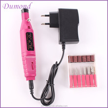 Nail Art Drill Machine Mini Nail Polish Making Machine Electric Nail Drill with 6 Nail Drill Bits