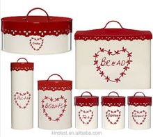 High quality Ceramic bread bin biscuit tea coffee sugar canister set