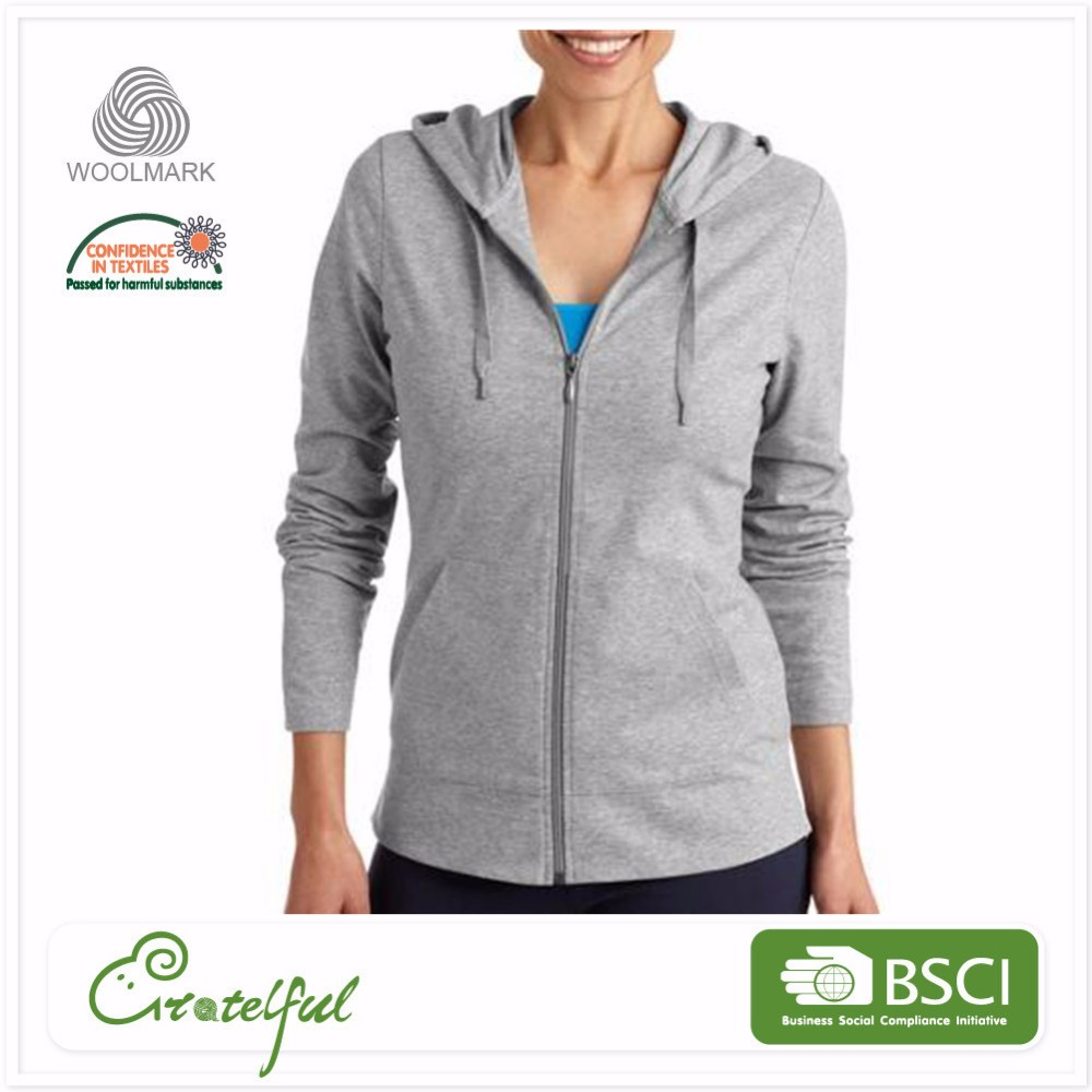 Wholesale pullover knitted wool womens sports polar fleece hoodies
